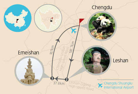 Chengdu, Leshan and Emei Mountain 4 Days Tour
