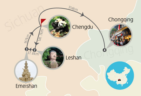 Chengdu Chongqing Excursion 5 Days Tour