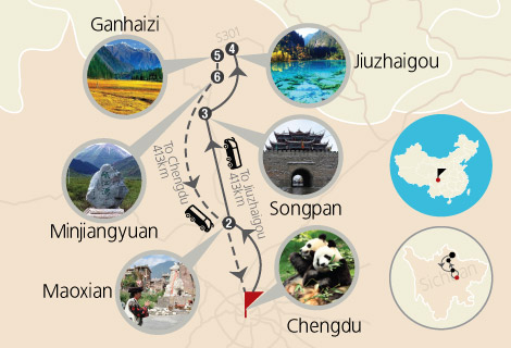 Chengdu Jiuzhaigou Amazing 6 Days Tour by Western bus