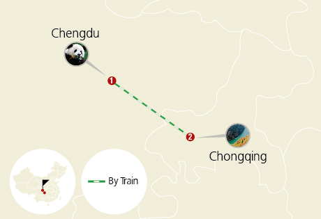 Chengdu to Chongqing 4 Days Train Tour