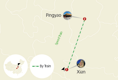Xian Pingyao High Speed Train Tour