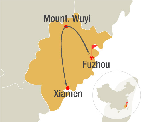 Fuzhou to Wuyi Mountain Bullet Train Tour