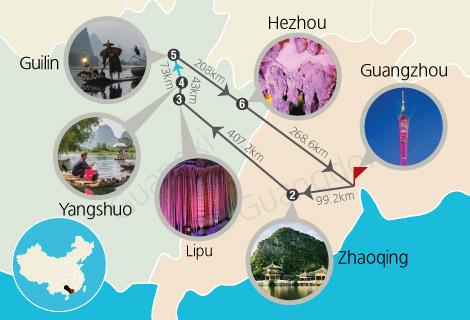 Guangzhou, Zhaoqing, Guilin, Yangshuo, Hezhou & Lipu 7 Days Tour