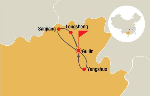 Guilin, Longsheng, Sanjiang, Yangshuo 6 Days Tour