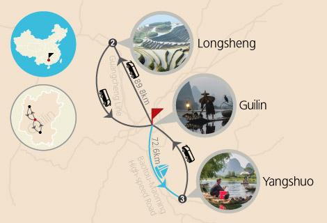 Guilin Essence & Longsheng Short Hiking 5 Days Tour