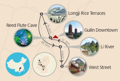 Guilin Longji Rice Terraces and Li River Cruise 3 Days Tour