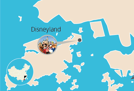 Hong Kong Disneyland Tour with Hotel Pickup for Night Flight Travelers