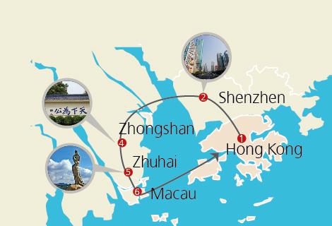 Hong Kong, Shenzhen, Zhongshan & Macau 4 Days Gourmet Tour