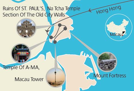 Macau World Heritage Sites Tour with 1-way Ferry and Pickup from Hong Kong