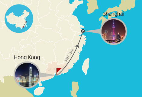 Hong Kong and Shanghai 4 Days Tour