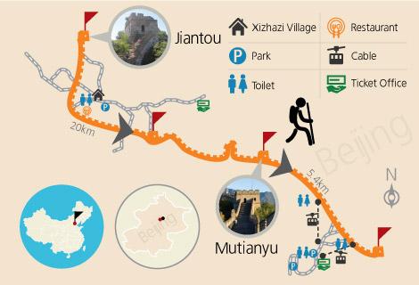 Jiankou to Mutianyu Hiking 1 Day Tour