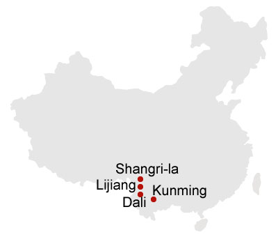 8 Days Kunming Dali Lijiang Shangrila Muslim Train Tour