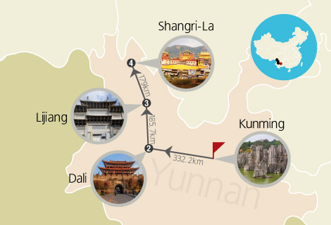Kunming, Dali, Lijiang & Shangri-La 8 Days Train Tour