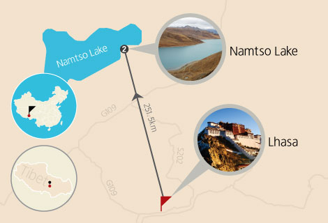 Lhasa and Namtso Lake 5 Days Tour