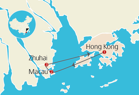 Lucky Journey 3 in 1 - Hong Kong, Macau & Zhuhai 5 Days Tour