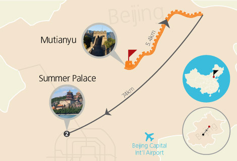 Mutianyu Great Wall and Summer Palace 1 Day Tour