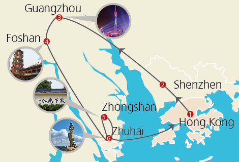 Pearl River Delta Gourmet 6 Day Tour