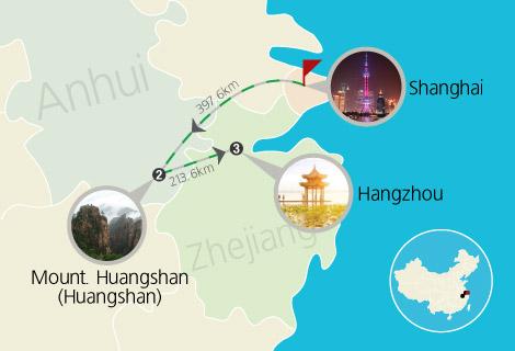 7 Days Shanghai, Huangshan and Hangzhou Train Tour