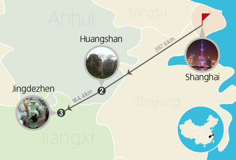 6 Days Shanghai, Huangshan and Jingdezhen Train Tour