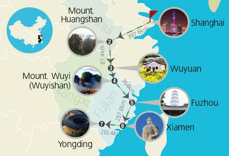 Shanghai Huangshan Wuyuan Wuyishan Fuzhou Xiamen 13 Days train Tour