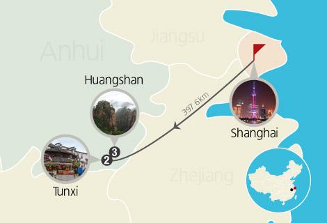 Shanghai Huangshan 6 Days Trekking Tour