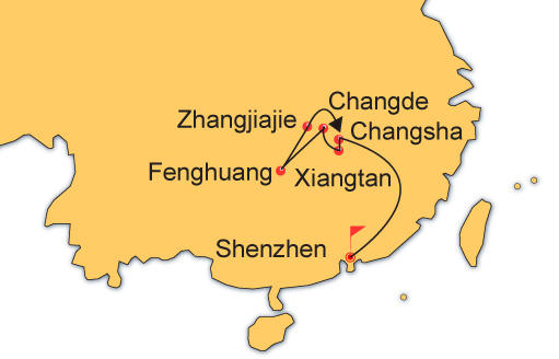 9 Days Essence Hunan Tour from Shenzhen by High Speed Train