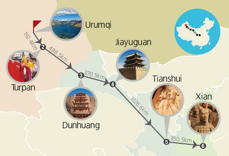 Silk Road 10 Days Tour by China Orient Express (A)