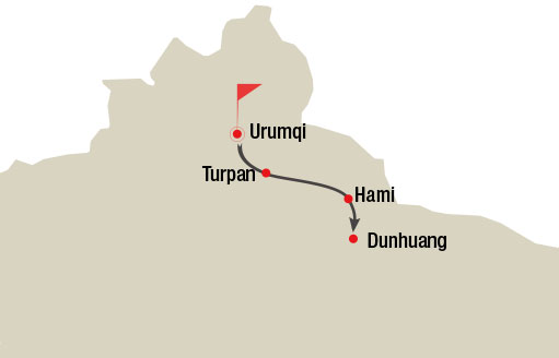 Urumqi Turpan Hami and Dunhuang 7 Days Tour