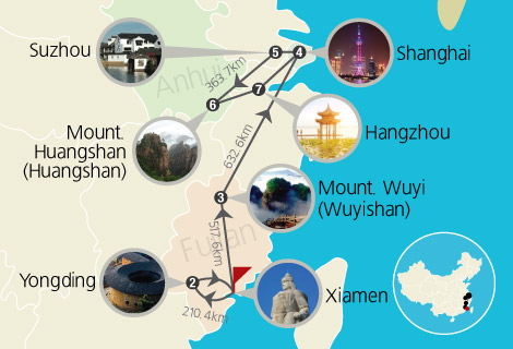 Picturesque Wuyi and Huangshan Mountain 11 Days Tour