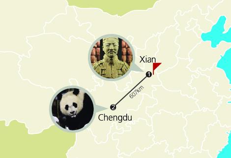 7 Days Chengdu, Xian and Mount Huashan Bullet Train Tour