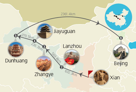 9-Day Xian, Lanzhou, Zhangye, Jiayuguan and Dunhuang Tour