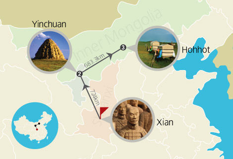 8 Days Historical and Cultural Essence of Xian Yinchuan Hohhot Tour