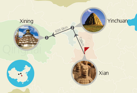 Xian Yinchuan Xining 8 Days Tour