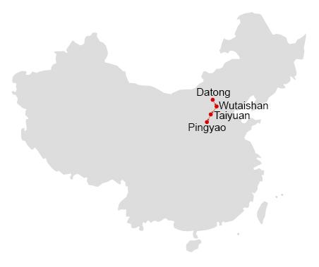Datong, Mt. Wutai, Taiyuan, Pingyao 7 Days Tour
