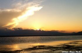 Sayram Lake Sunset