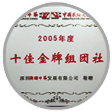 The Golden Co-operator 2005 awarded by Shenzhen Splendid
