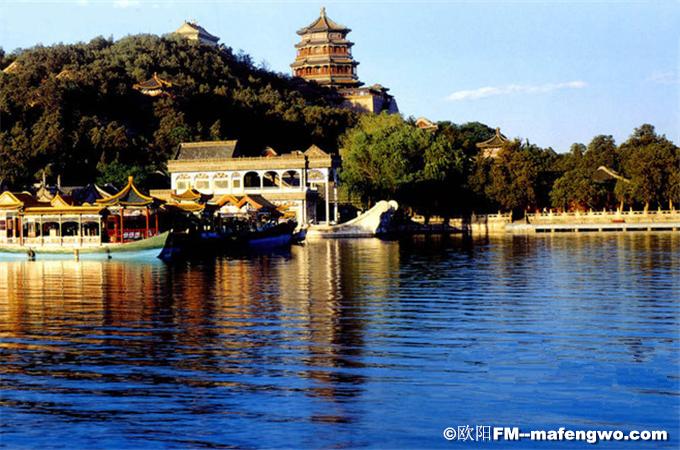 Kunming Lake of Summer Palace in Sunset