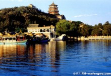 Kunming Lake of Summer Palace in Sunset