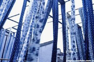 Shanghai's Hand Printed Blue Nankeen
