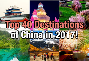 Top 40 Destinations of China in 2017