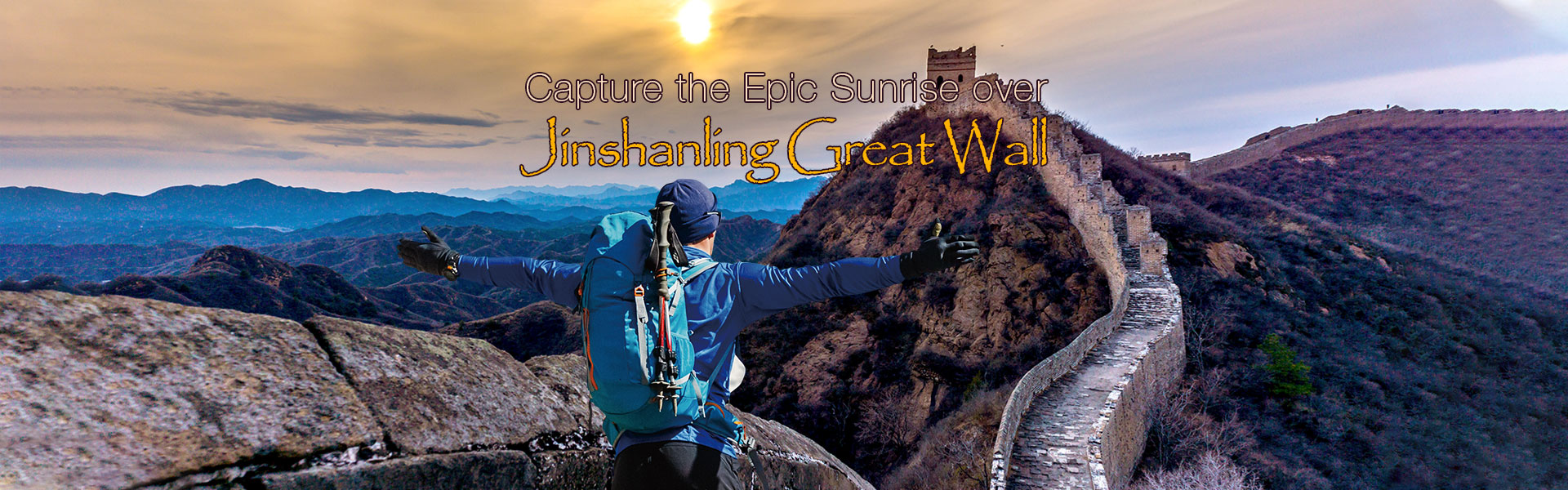 Capture the Epic Sunrise over Jinshanling Great Wall