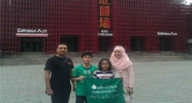 Beijing Family Tour - Visitors in front of Beijing Red Theater