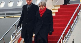 Britain's Prime Minister Arrives in China