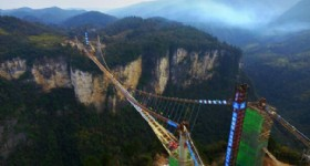 Worlds Longest Glass Bridge at Zhangjiajie National Park
