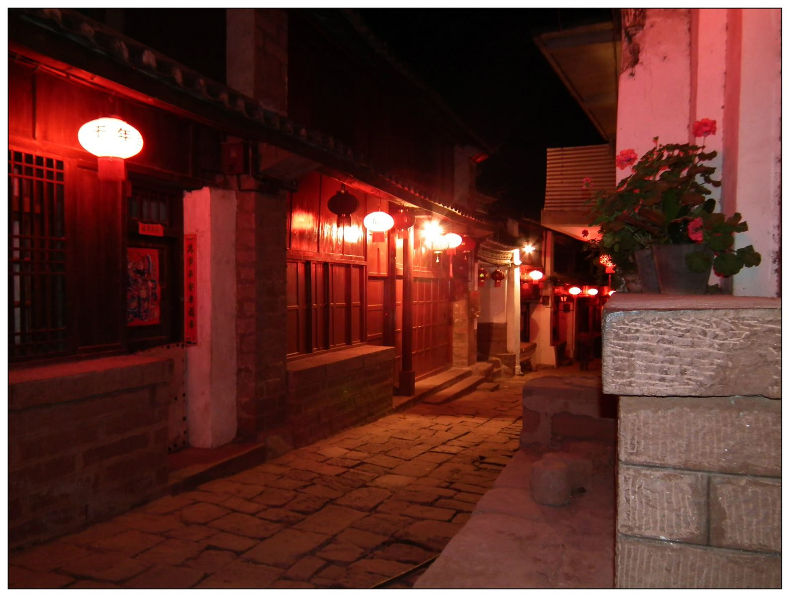 Night-Scene-in-Heijing-Anceint-Town-Street