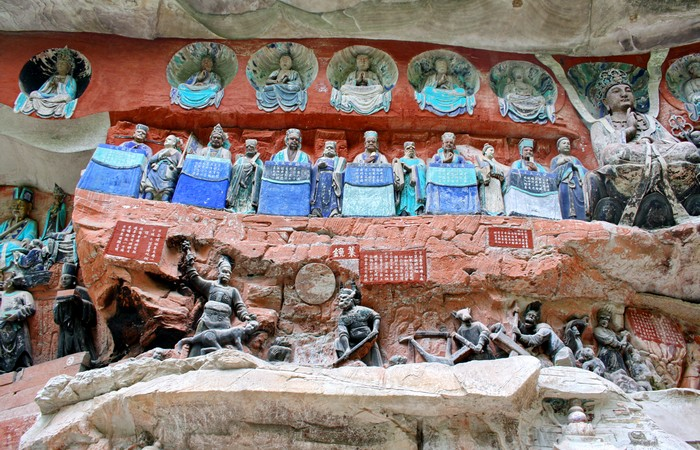 Dazu rock carvings chongqing china