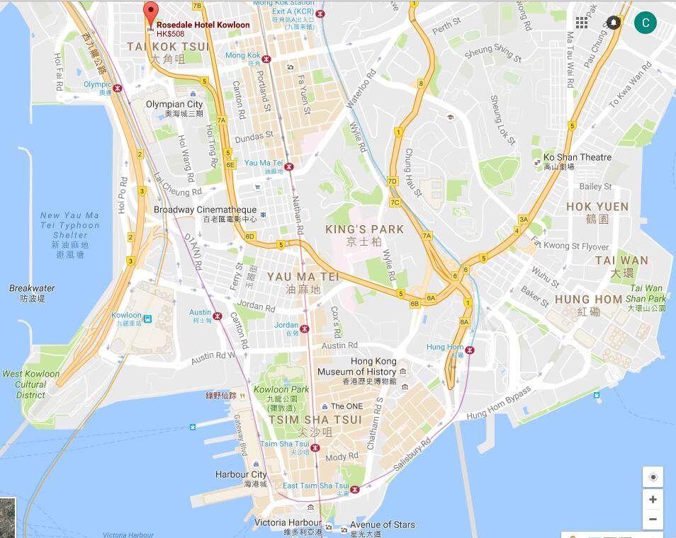 Location of Rosedale Hotel Kowloon, map of Rosedale Hotel ... on google map singapore, google map china, google map kowloon tong, google map br, google map kowloon hong kong, google map ne, google map taiwan,