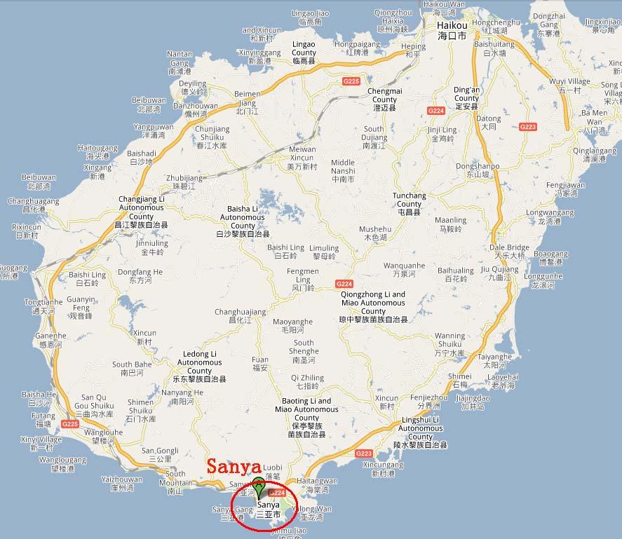 Hainan Island World Map