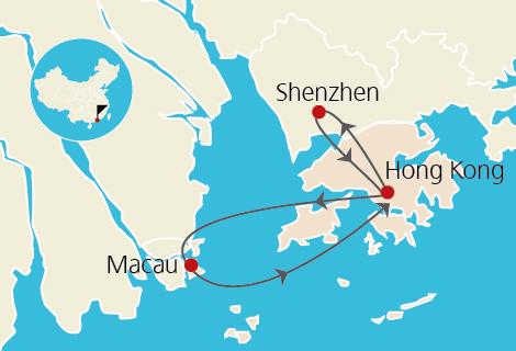 Hong Kong Macau Shenzhen 6 Days Tour