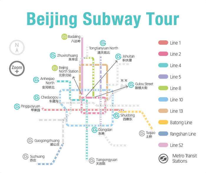 Beijing Subway Tour Beijing Subway Map Great Wall Tour By Subway
